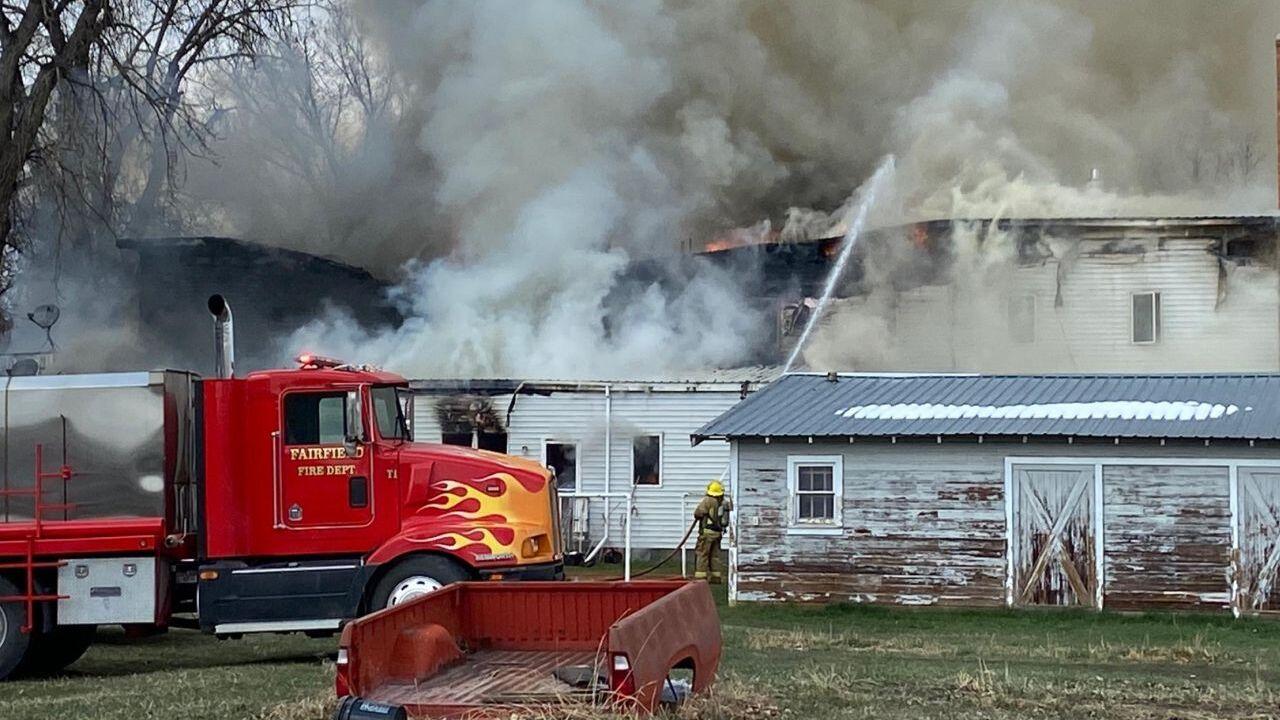 Fire in Choteau (April 20, 2021)