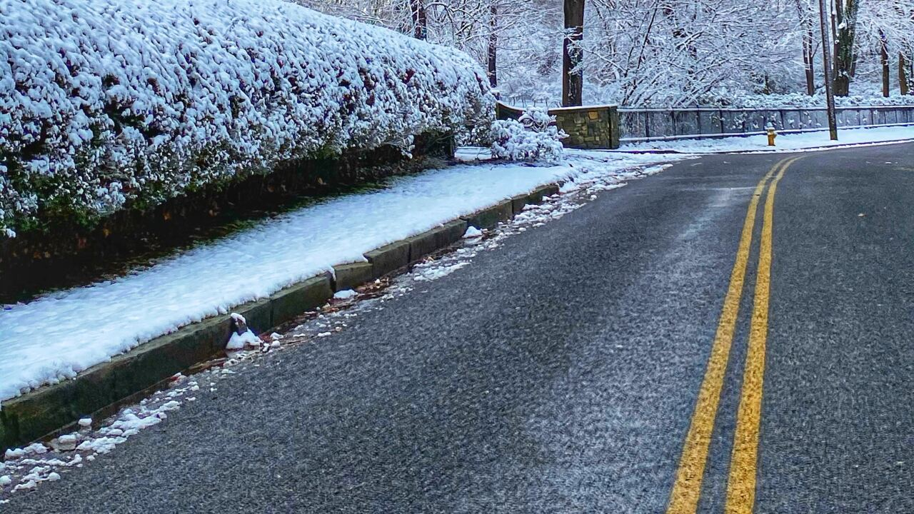 File image: Snow on roads