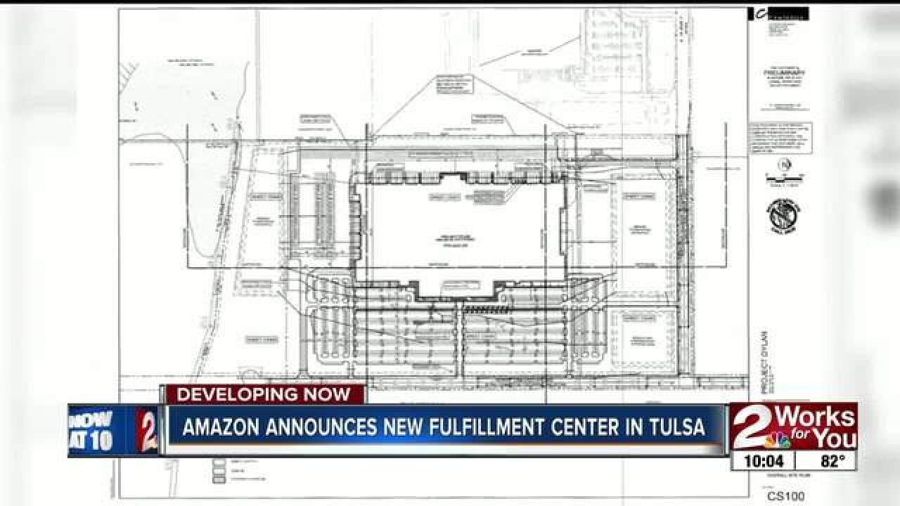 Tulsa to get Amazon distribution center