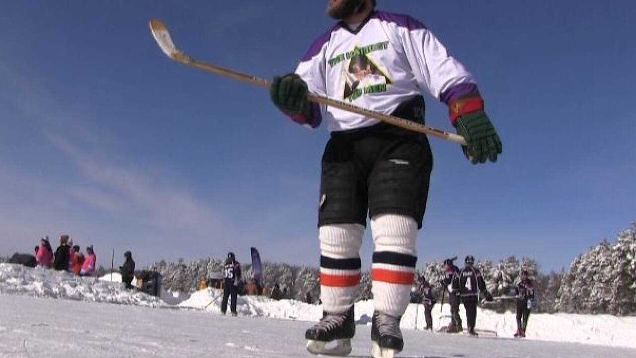 Pond Hockey in Eagle River 2
