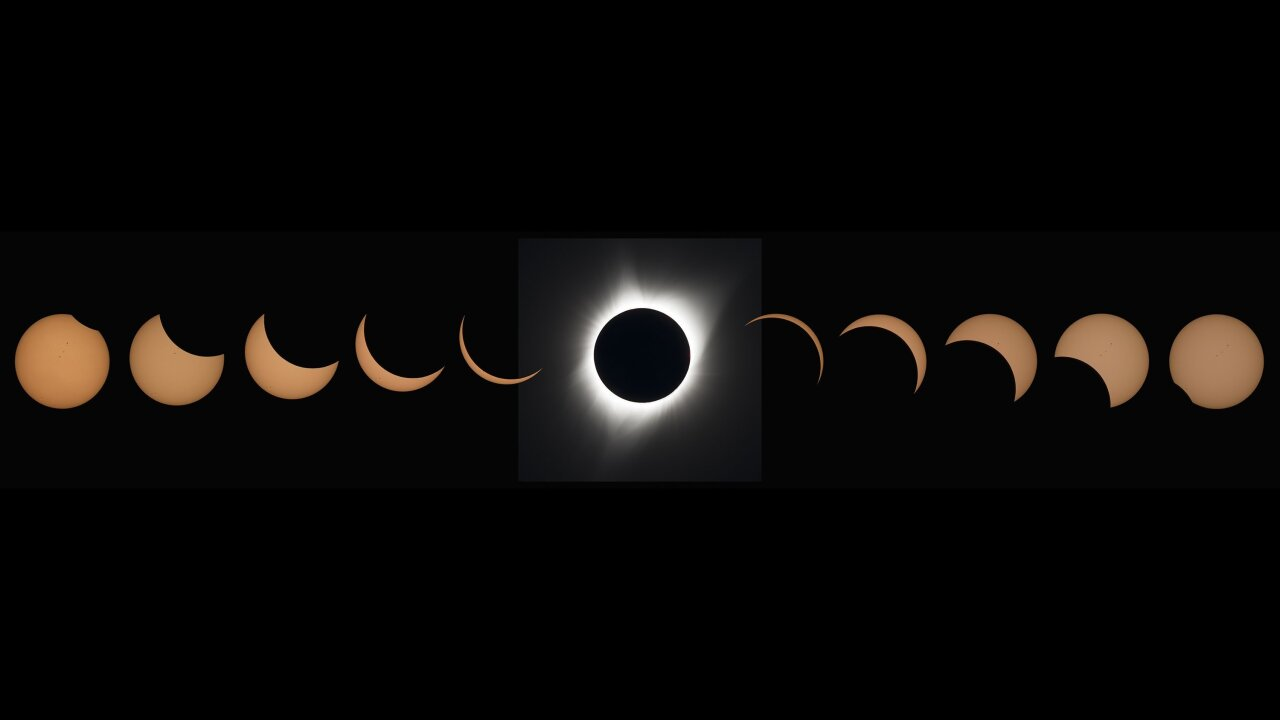 Total solar eclipse moves across South America today