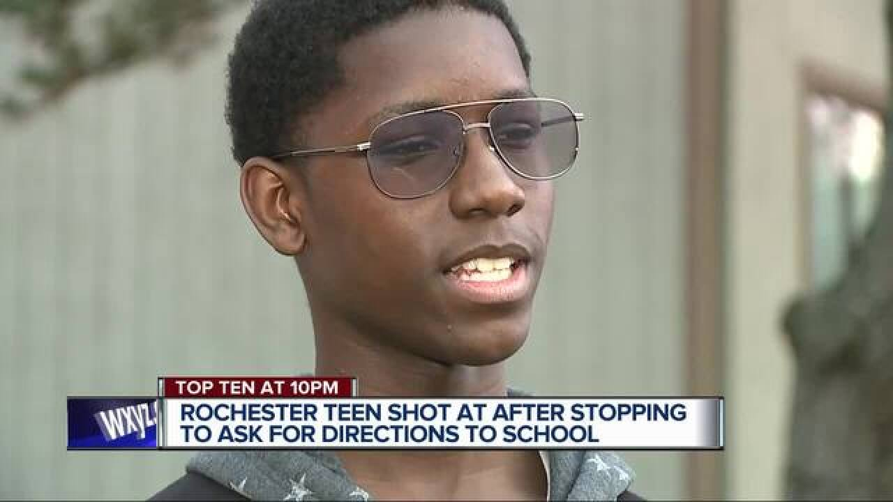 Teen shot at after trying to ask for directions