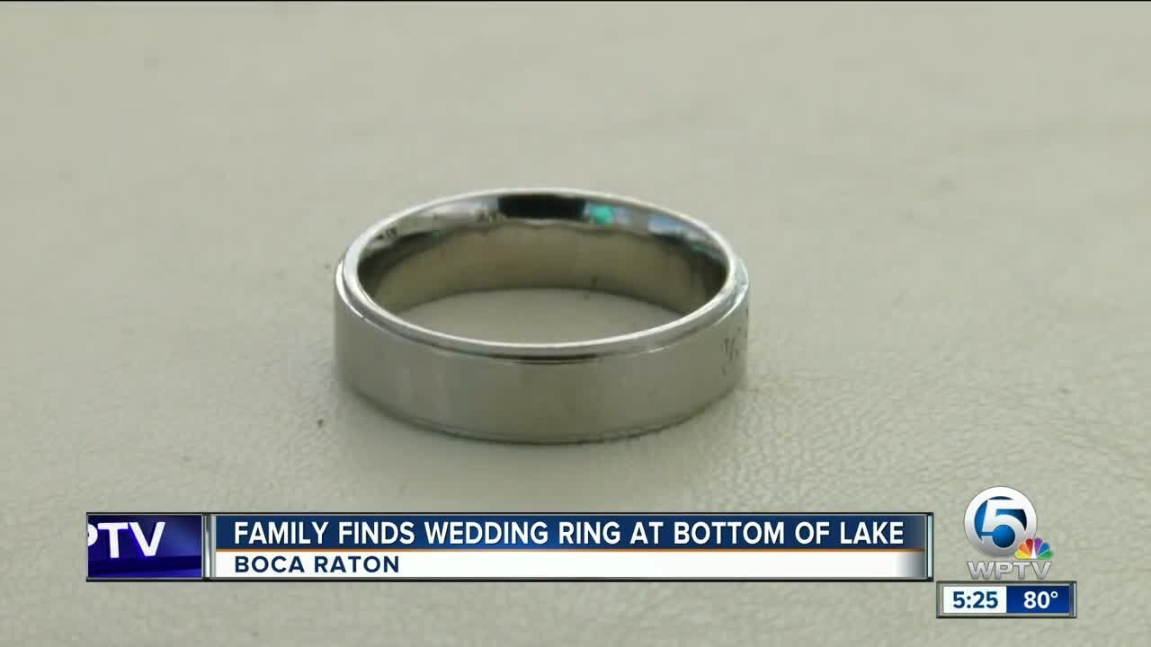 Man's wedding band found in lake: Family seeks to find owner