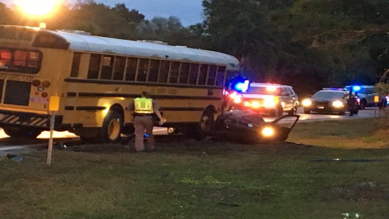 Florida school bus involved in deadly crash