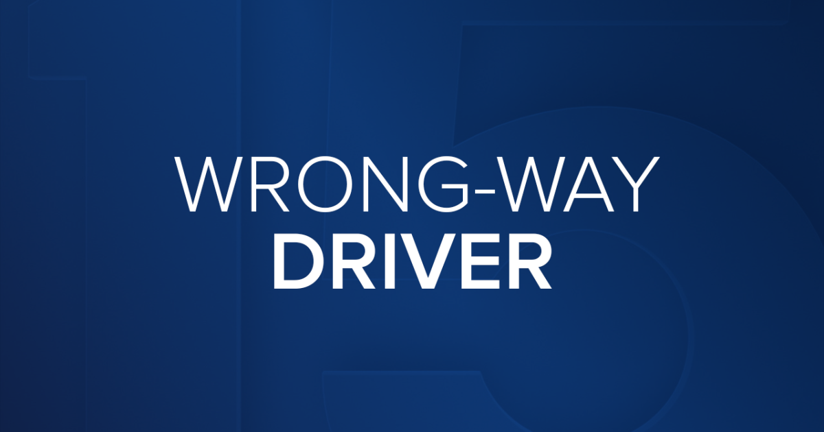 Wrong-way driver stopped along L-202 South Mountain