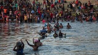 Haitian migrants in Texas