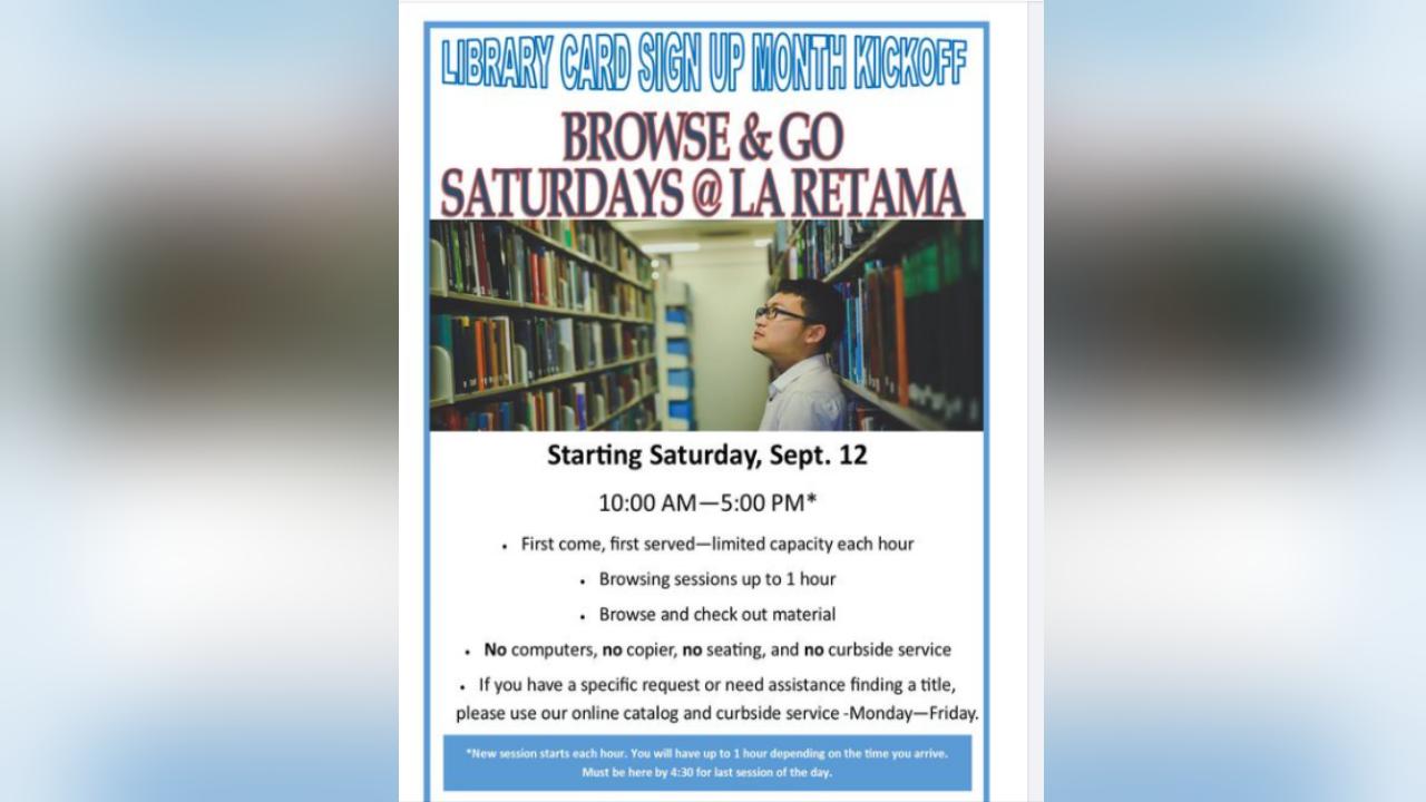"""La Retama Library conducts """"Browse & Go"""""""
