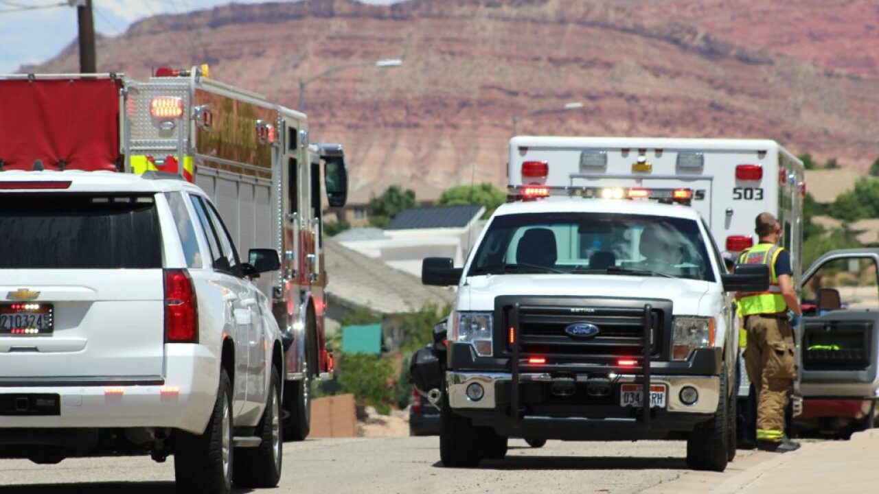 Driver sent to hospital after car goes off 20-foot embankment in St. George
