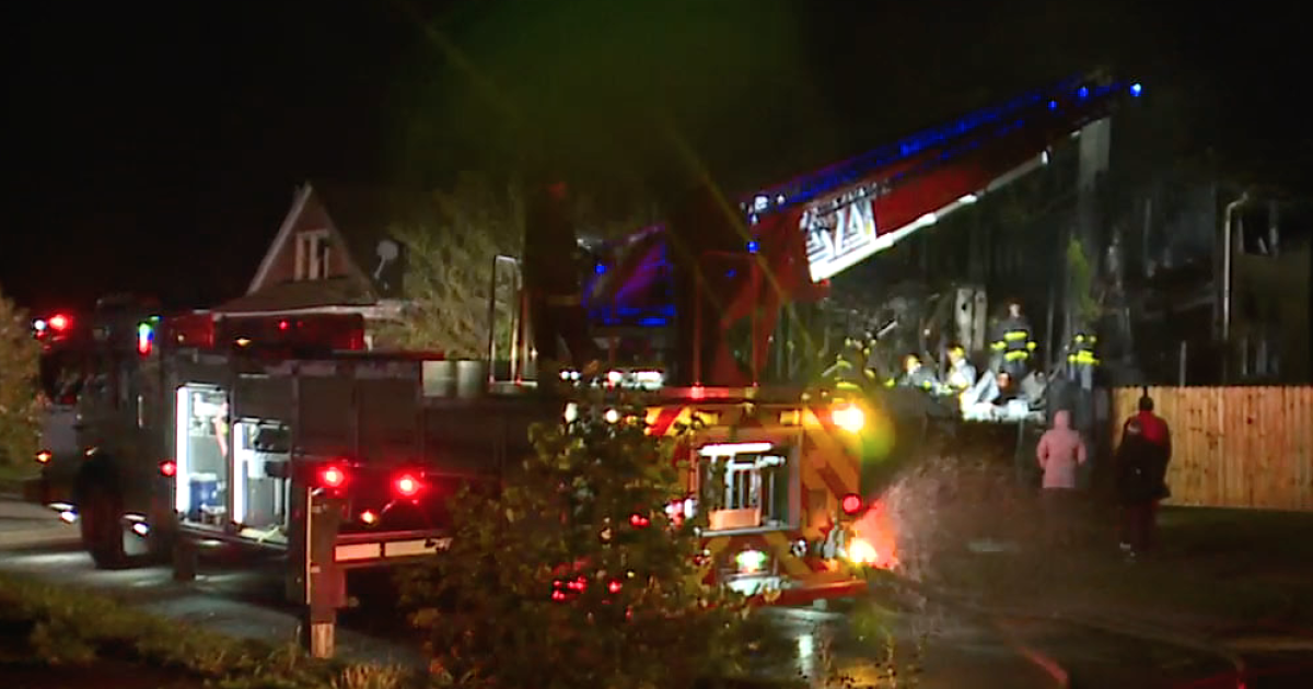 Fire crews search for elderly man after fire rips through Detroit home