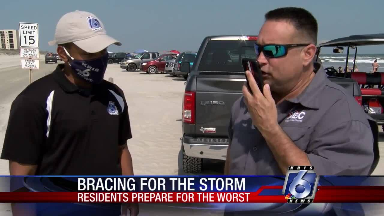 Port Aransas residents and visitors brace for the worst due to upcoming storm.