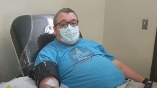Virginia Beach resident Tim Martin donates plasma