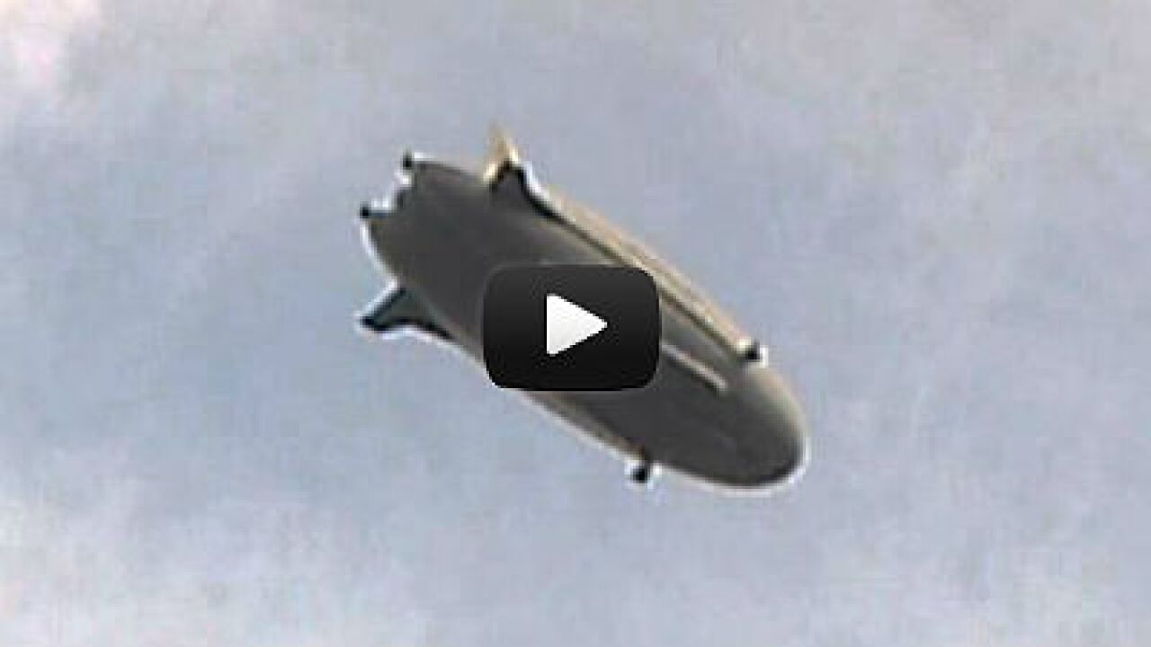 Video: Army's giant spy blimp soars over Jersey shore