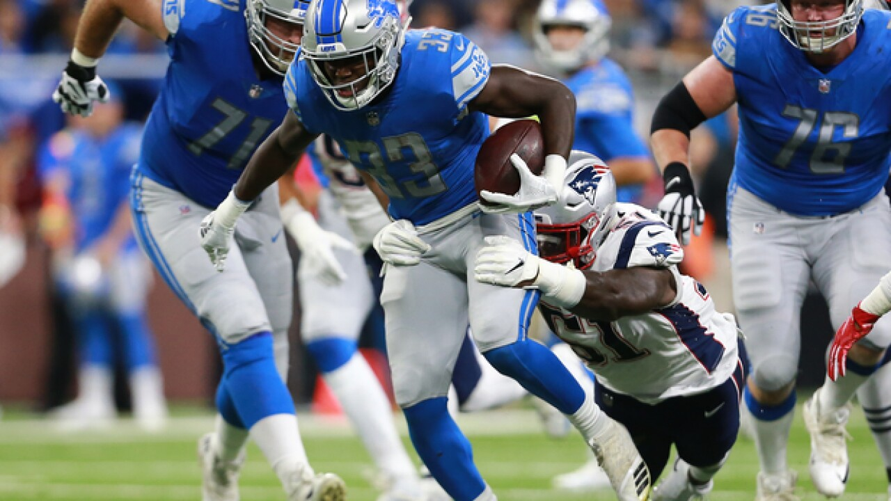 A rushing barrier finally falls for Lions against Patriots