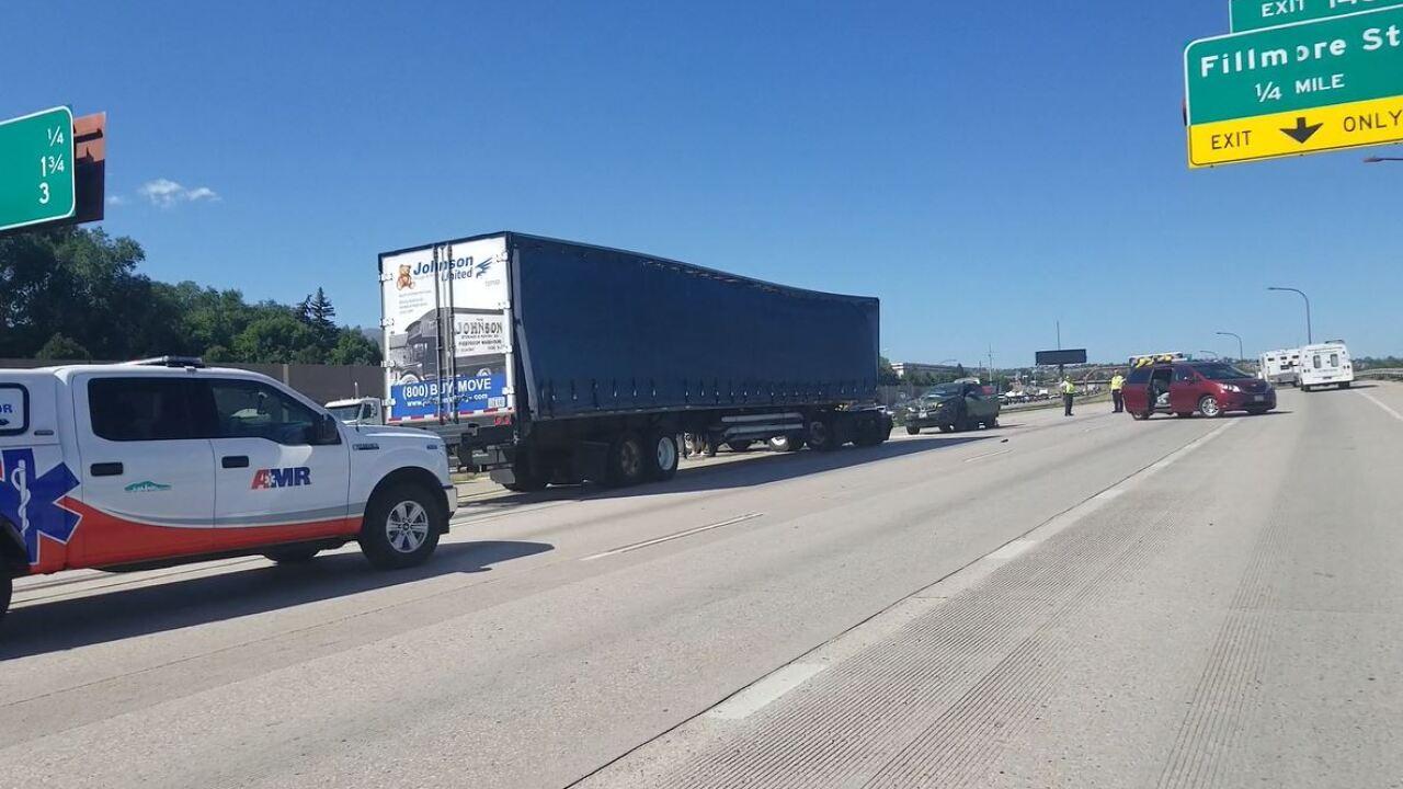 I-25 at Fillmore crash