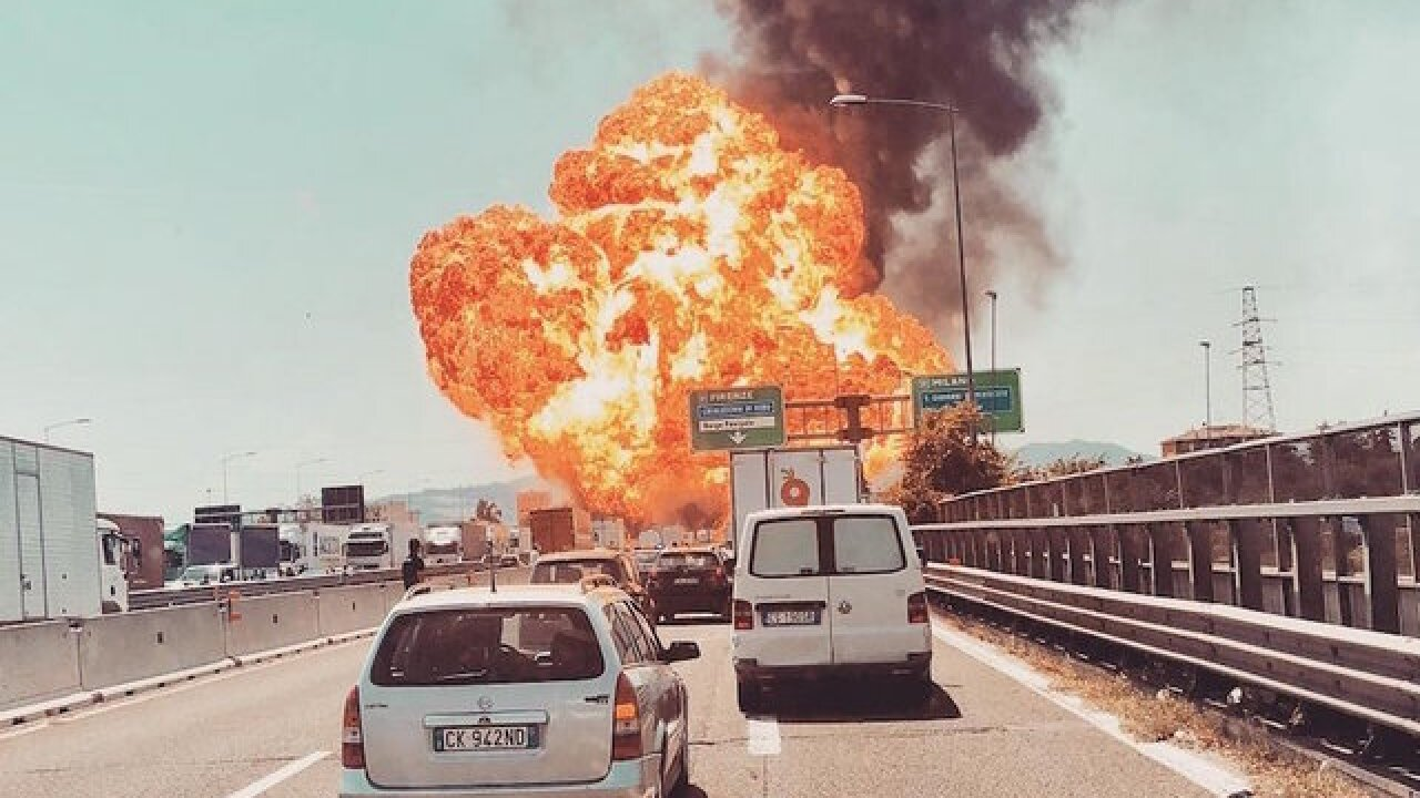 3 dead, 67 injured after tanker truck explodes on Italian highway