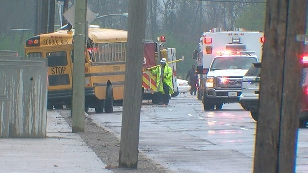 Injuries reported after school bus, others crash