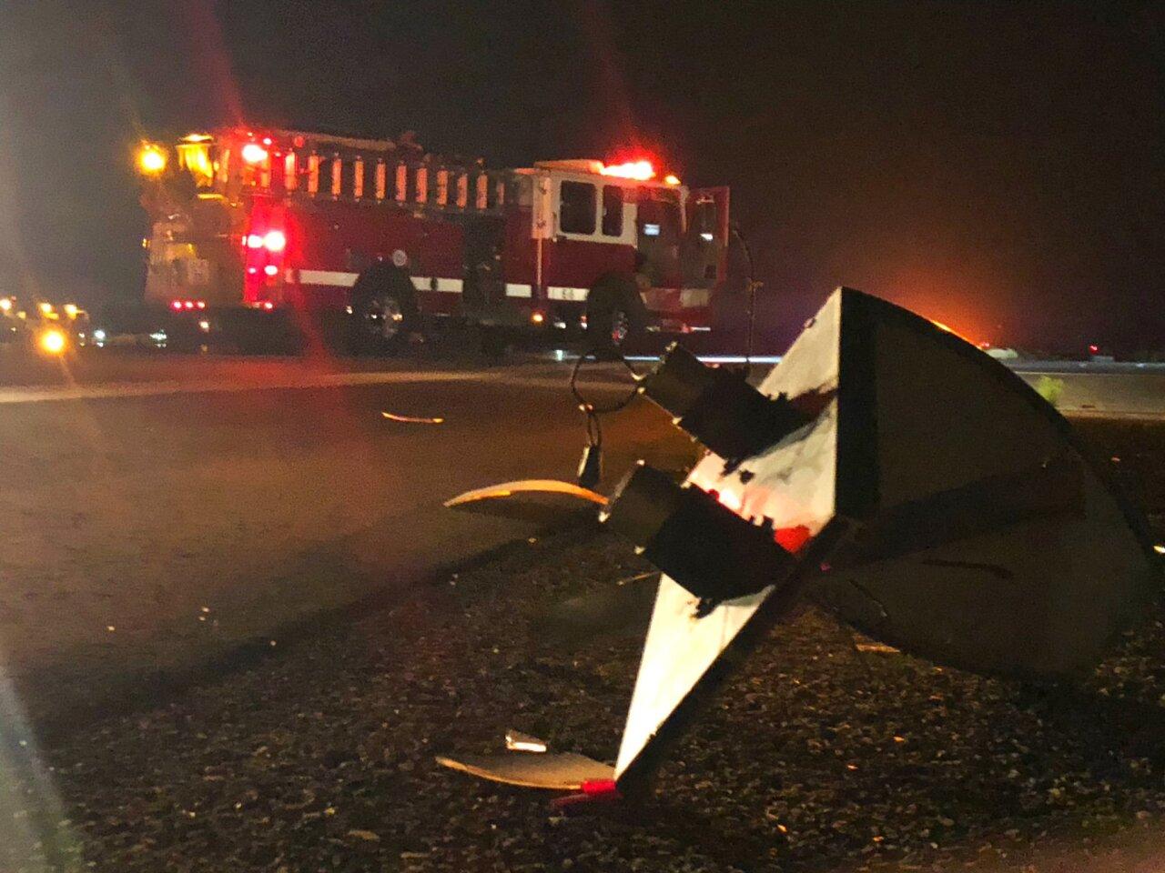 SBA plane crash debris