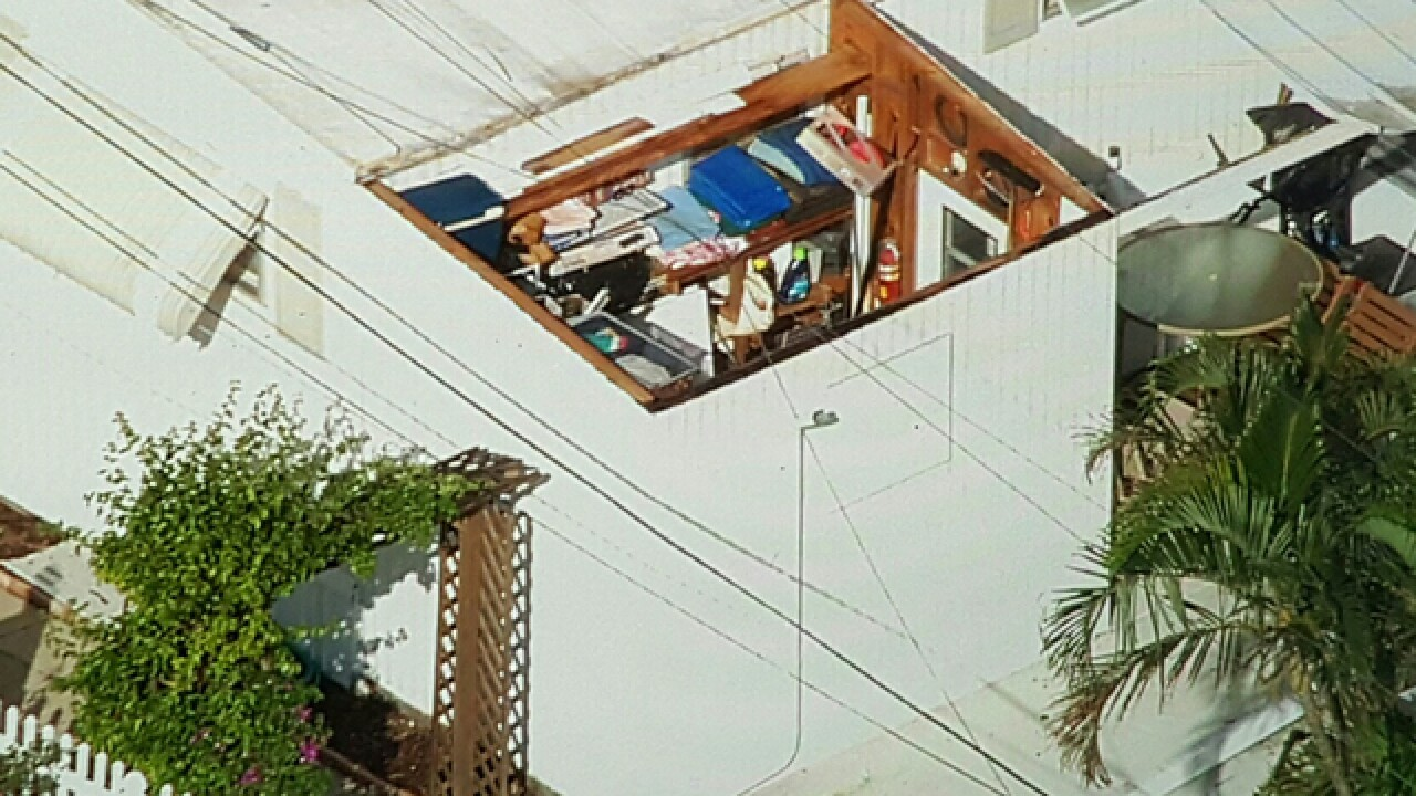 Mobile home park damaged by storms in Juno Beach