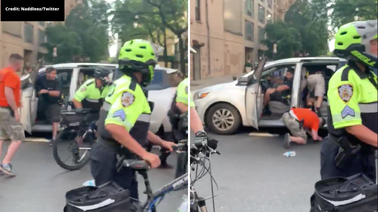 'Incredibly disturbing': Video shows NYPD pull woman into unmarked minivan at Manhattan protest