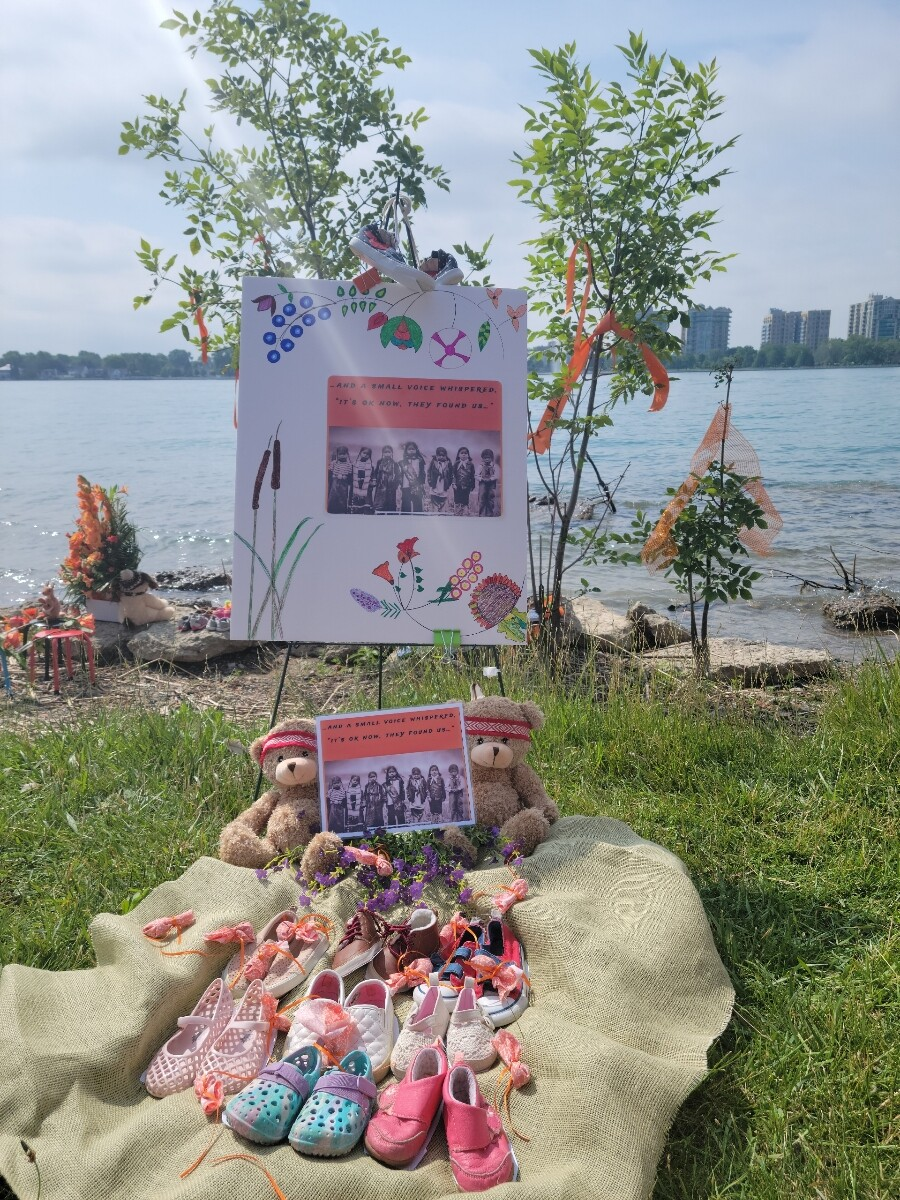 Memorial at Belle Isle for First Nation children who never returned home from boarding schools in Canada