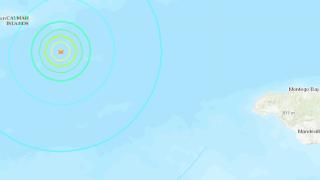 Earthquake off the Cayman Islands on 1/28/2020