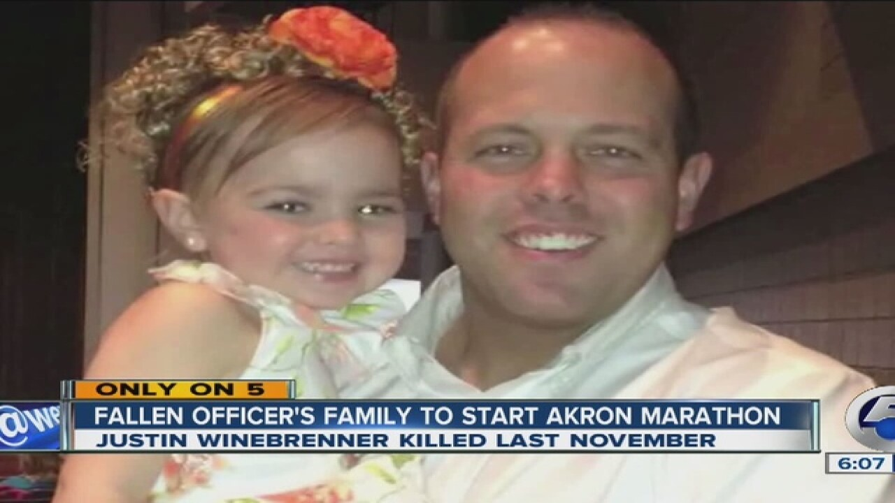 Family of fallen officer starts Akron Marathon
