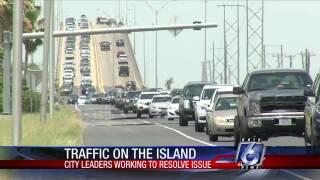Traffic to Padre Island