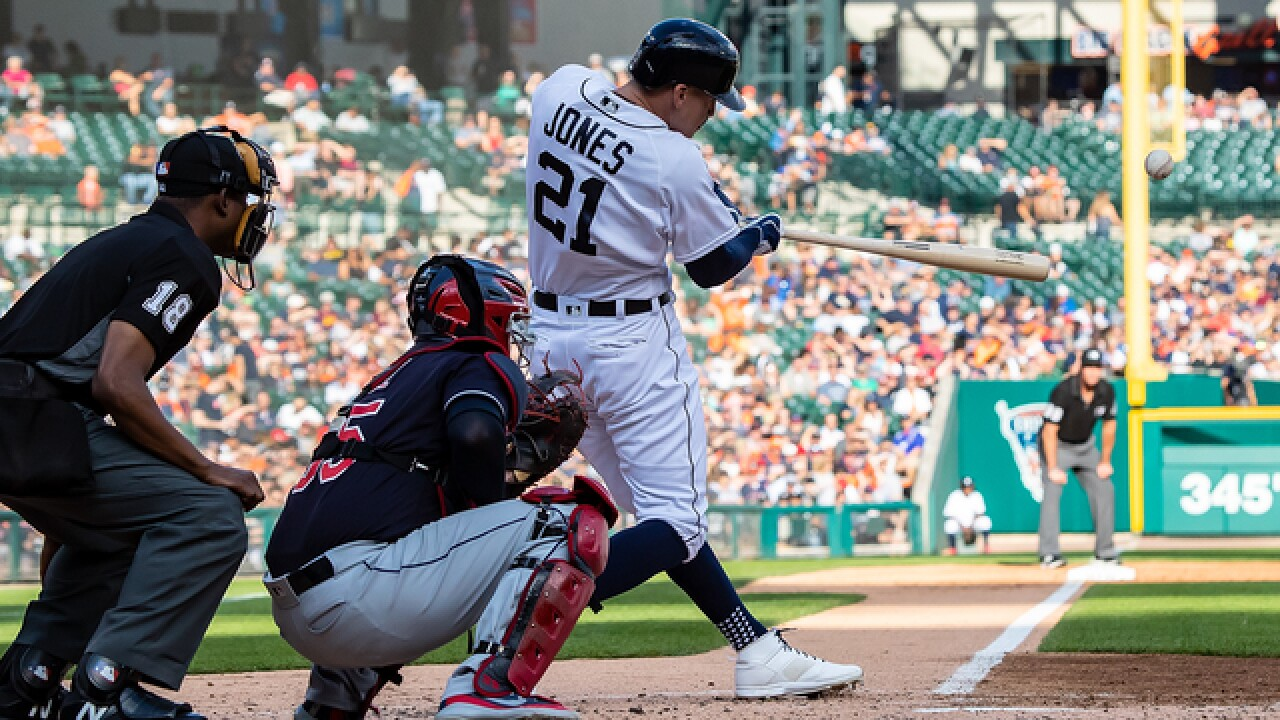 JaCoby Jones' 2-run HR lifts Tigers to win over Indians