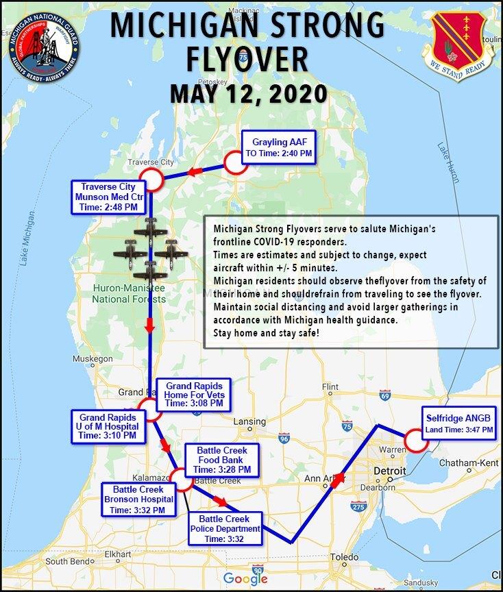 Michigan Air National Guard Blue Angels To Perform Flyover Of Michigan