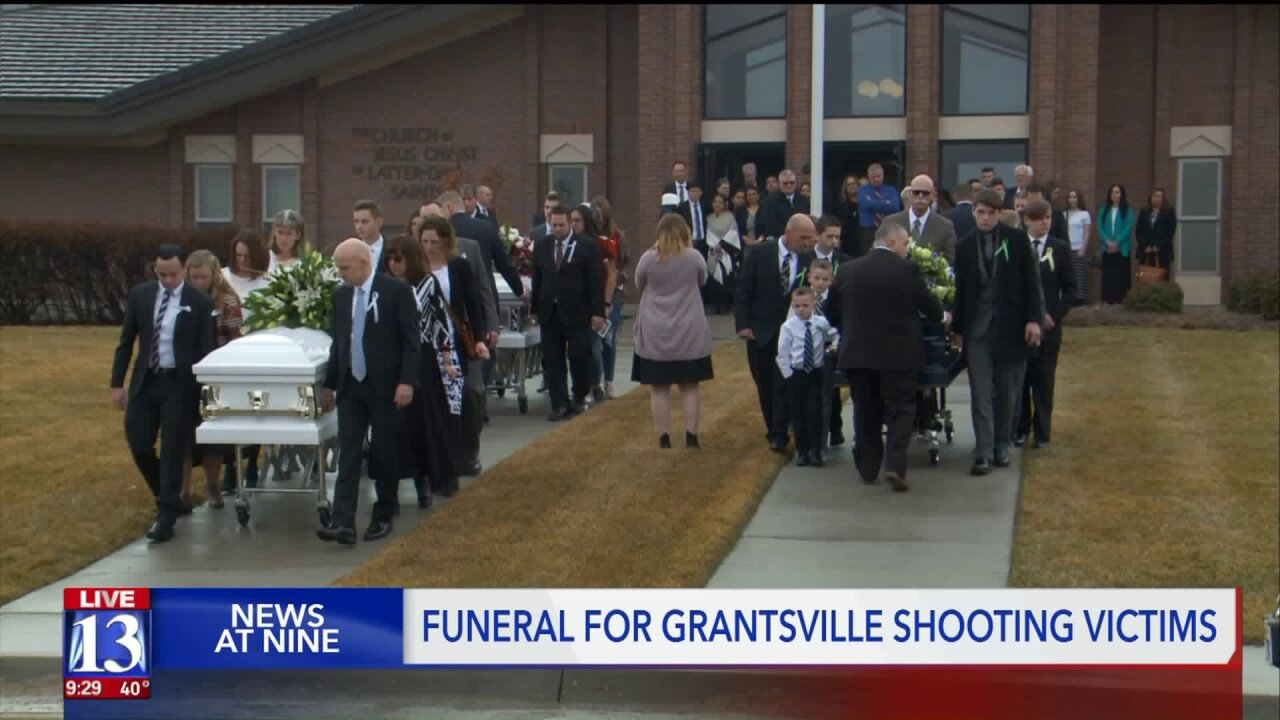 Community and family members mourn and celebrate the lives of Grantsville shooting victims