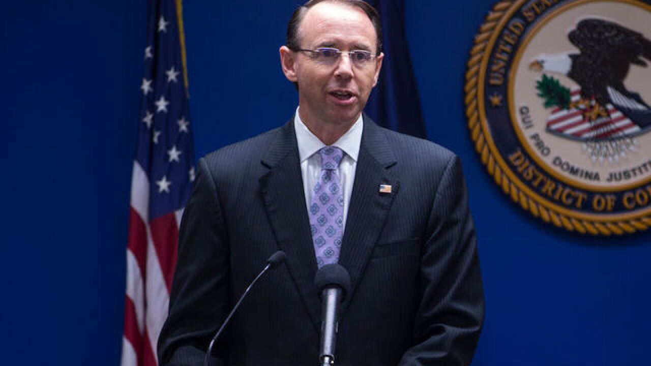 Rosenstein wants Mueller's special counsel probe finished soon, Bloomberg reports