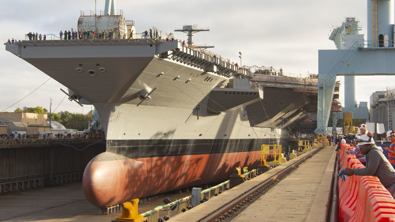 Navy: Lessons from Ford are making Kennedy construction faster, more efficient