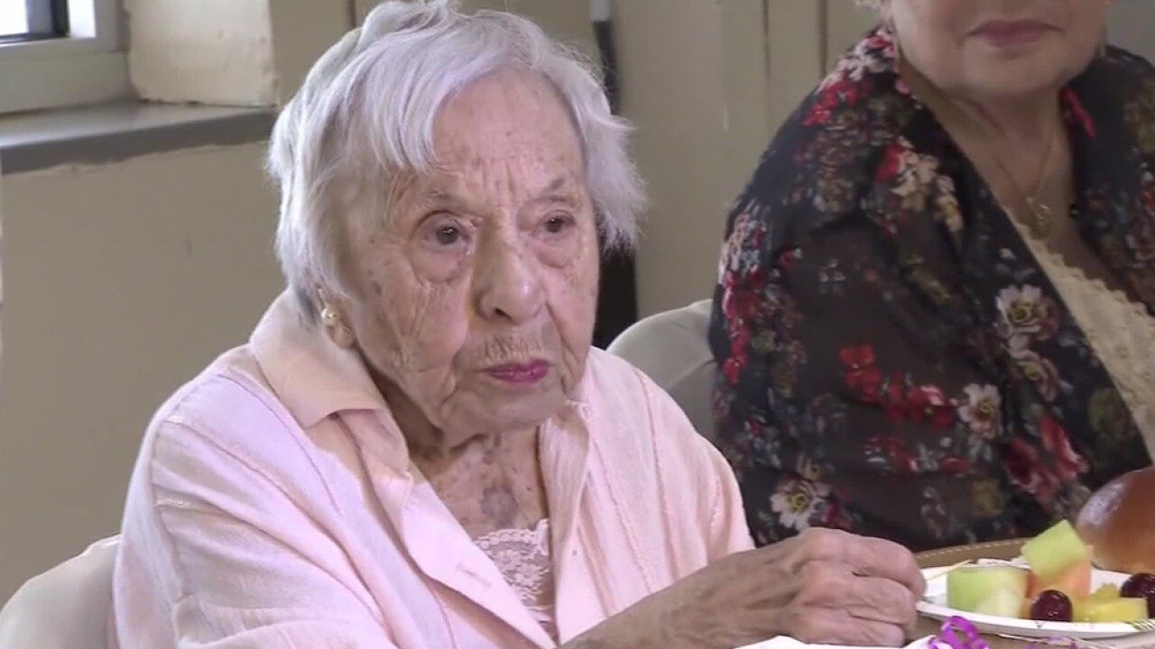 More than 100 people attended Louise Signore's 107th birthday party on Wednesday.