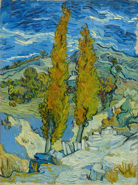 Two Poplars in the Alpilles near Saint-Rémy