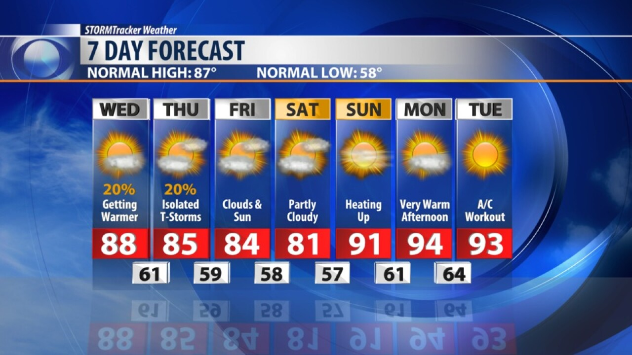 7 Day Forecast for August 14, 2019