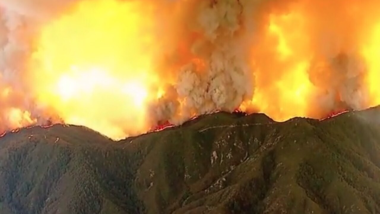 Wildfire quickly spreading in Orange County