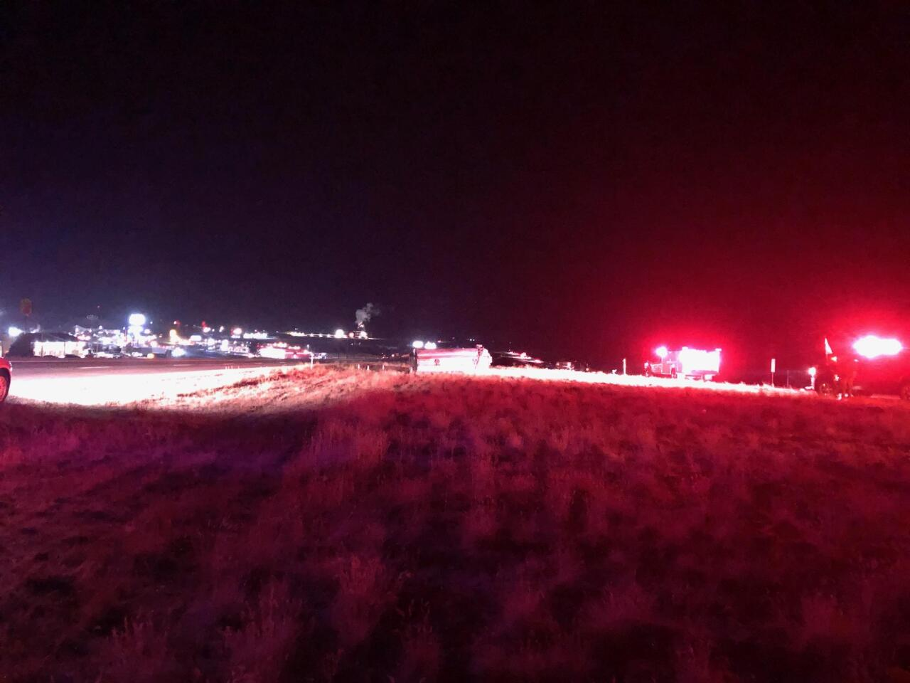 Gas Tanker Loses Pup Trailer in Nephi, January 12, 2021