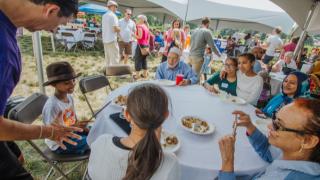 Tri-faith picnic on the commons