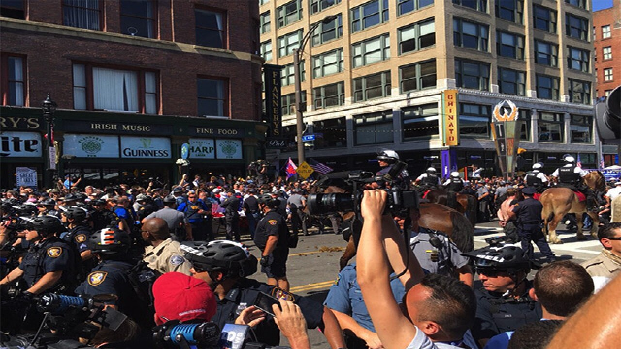Seventeen protesters arrested Wednesday