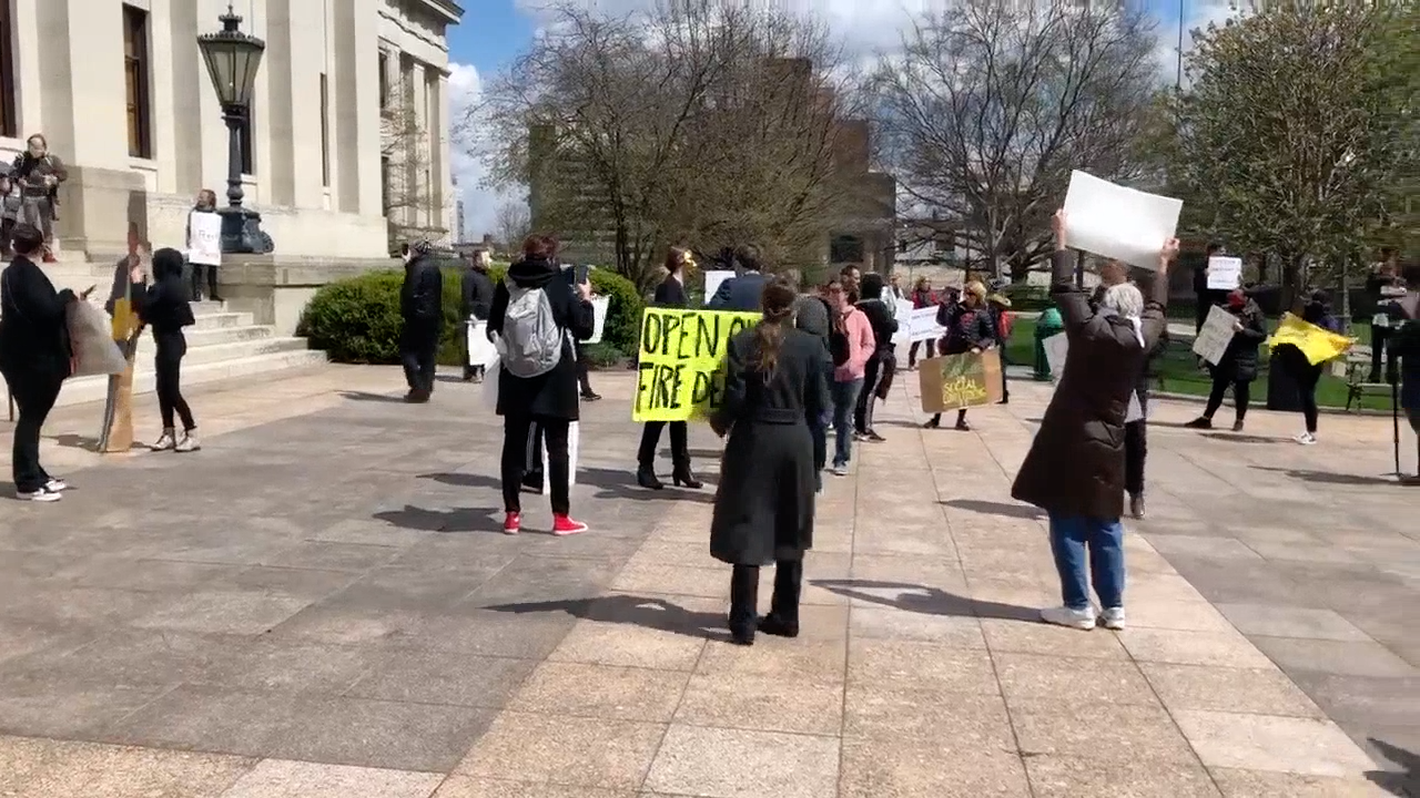 Protest at Statehouse