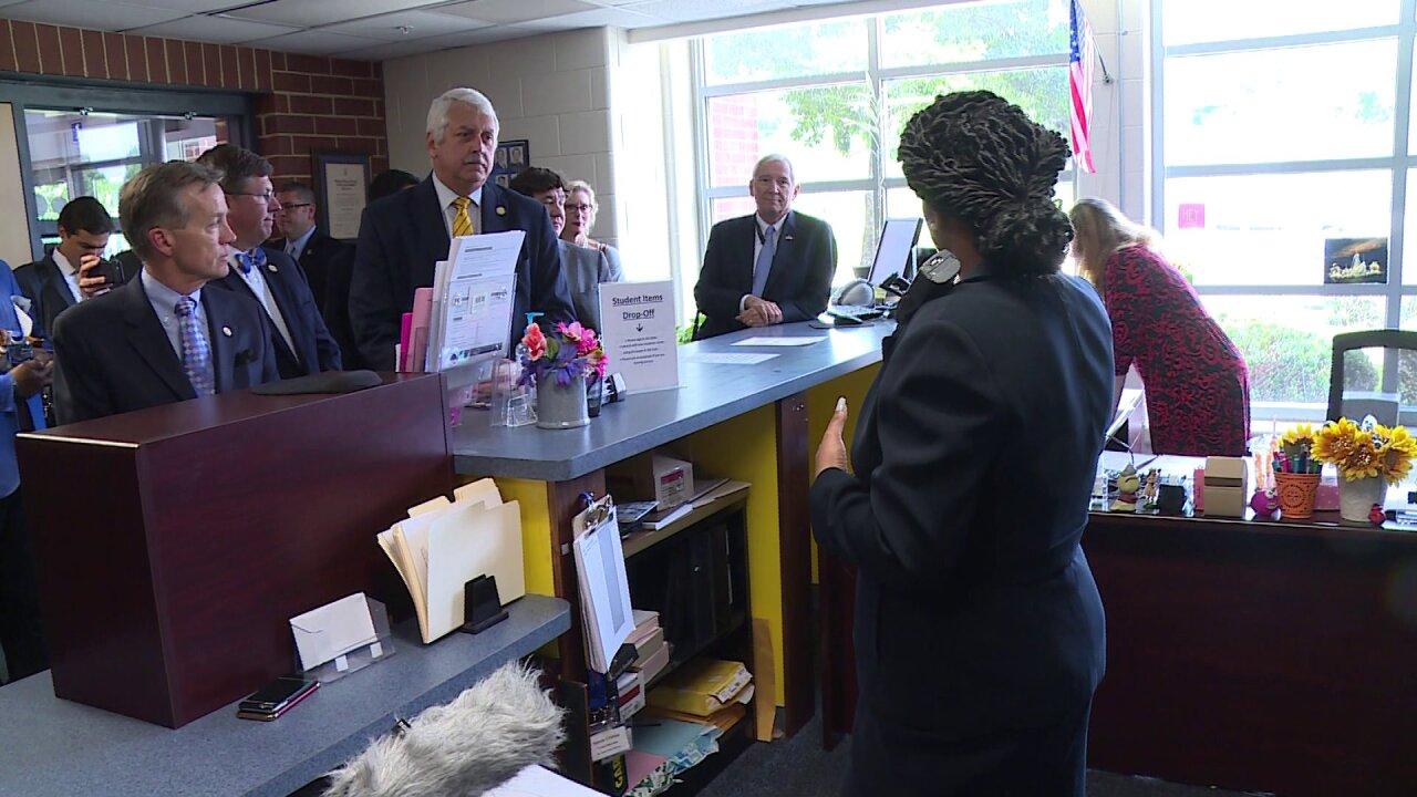 Virginia lawmakers tour school to study safetyplan