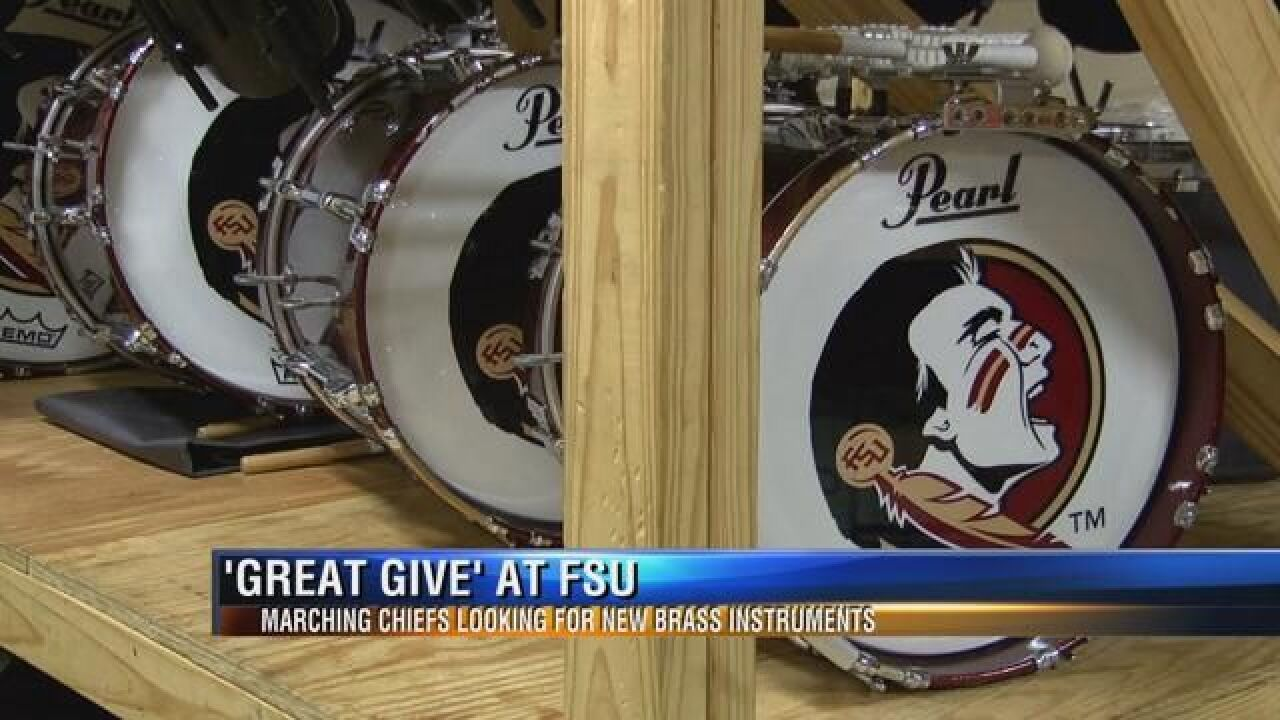 """FSU's """"Great Give"""" Getting New Instruments for Marching Chiefs"""