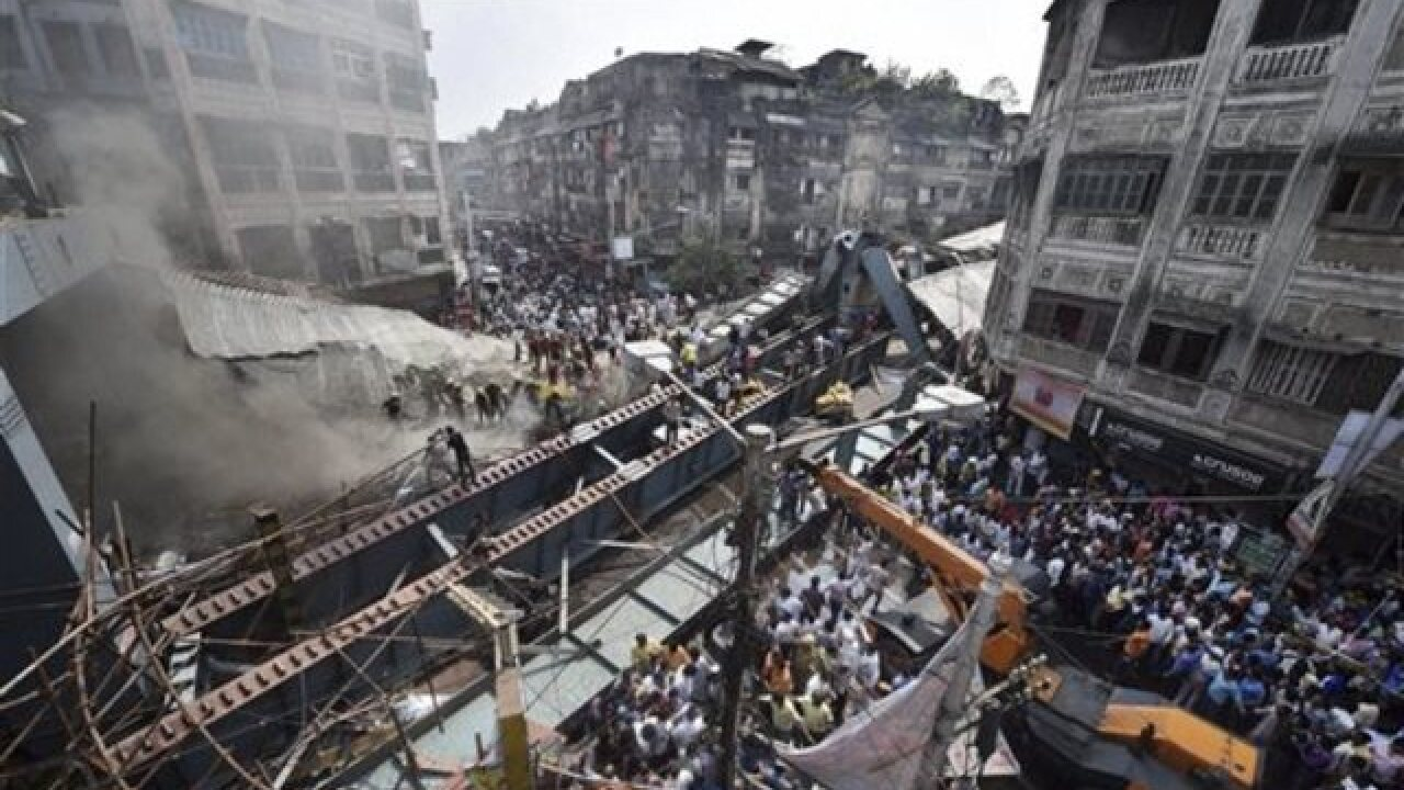 Police say some killed, others trapped in overpass collapse in eastern India