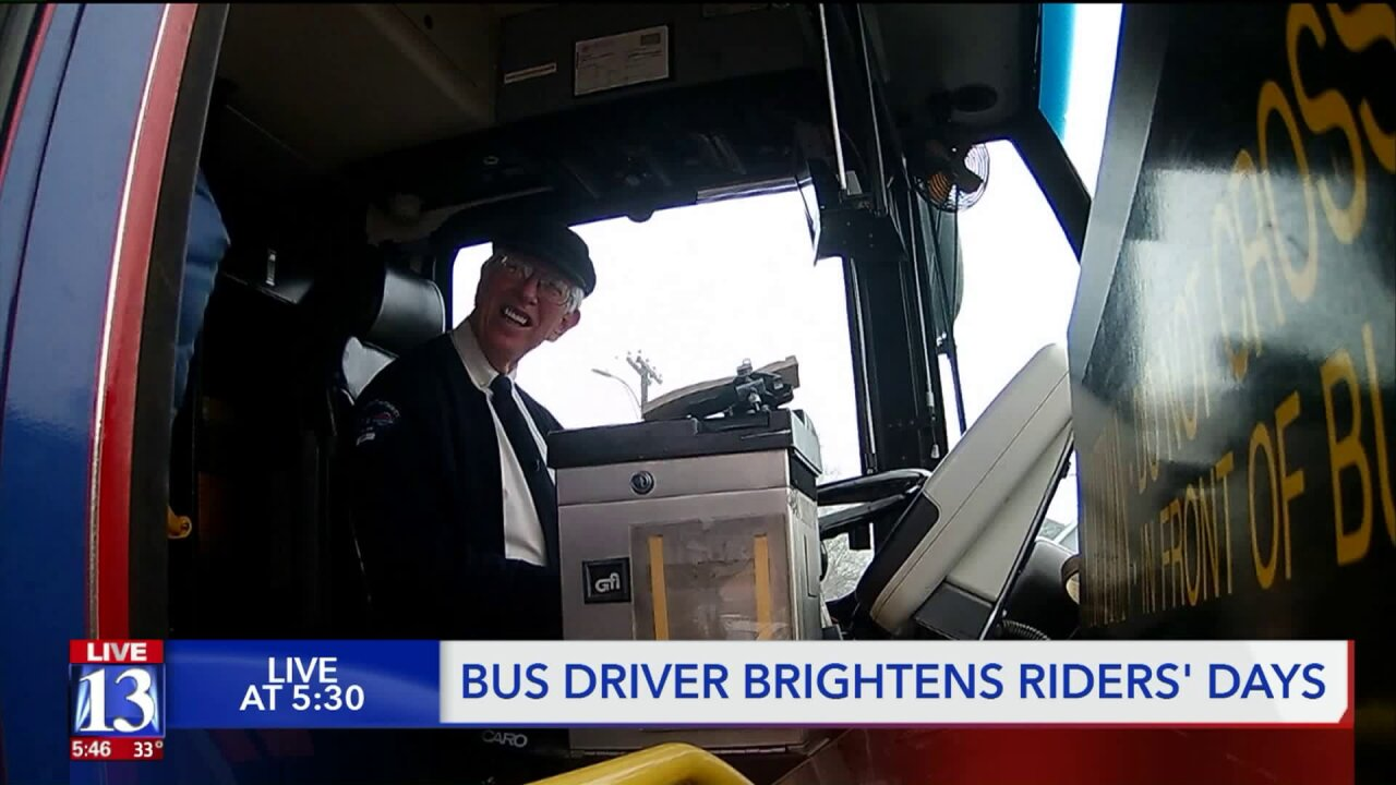 'Mr. Rodgers' of bus system: Utah bus driver brightens up day to manypassengers