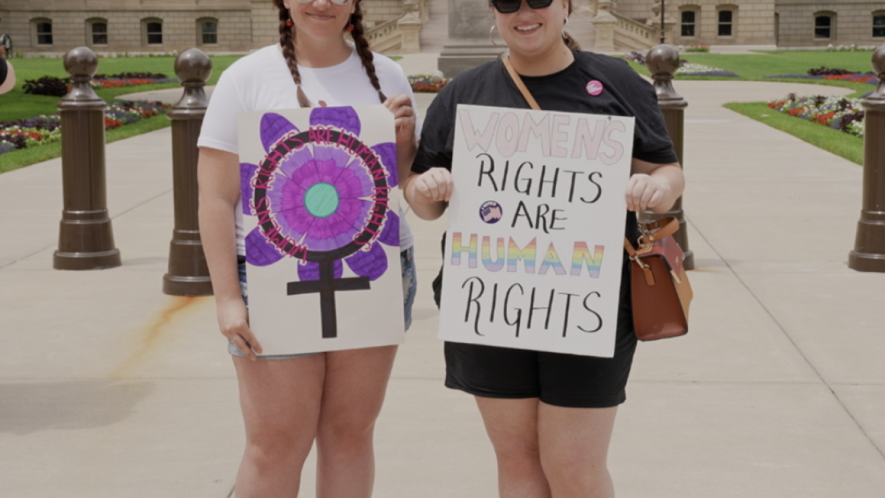 Women's Rights Advocates at the Capitol