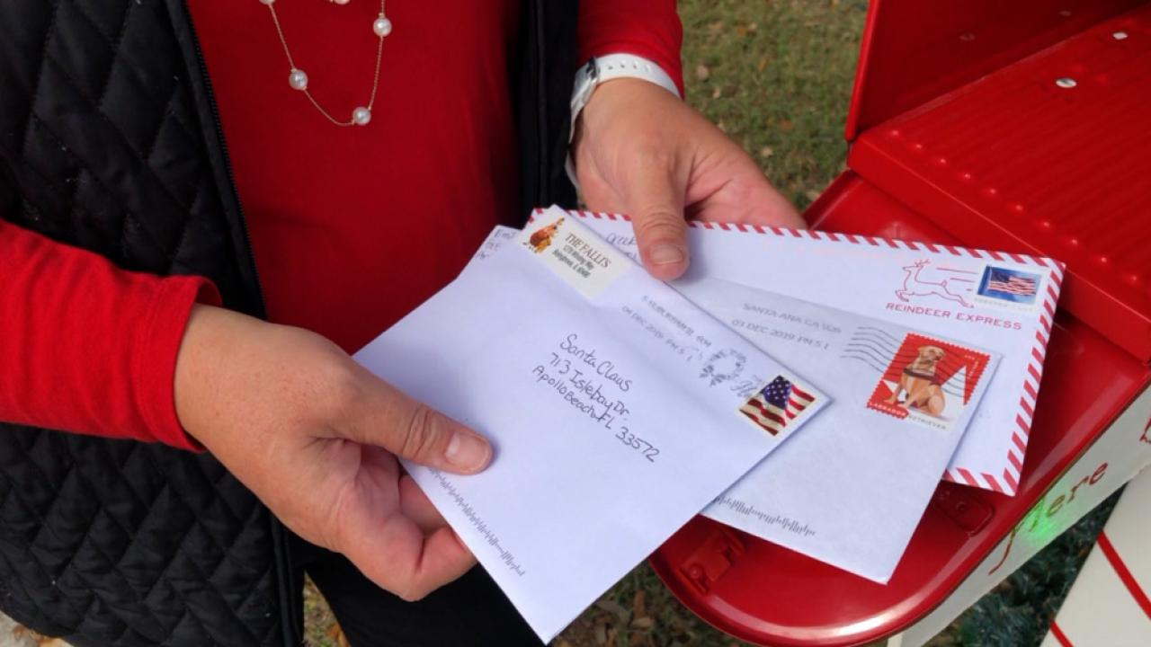 letters to Santa Apollo Beach