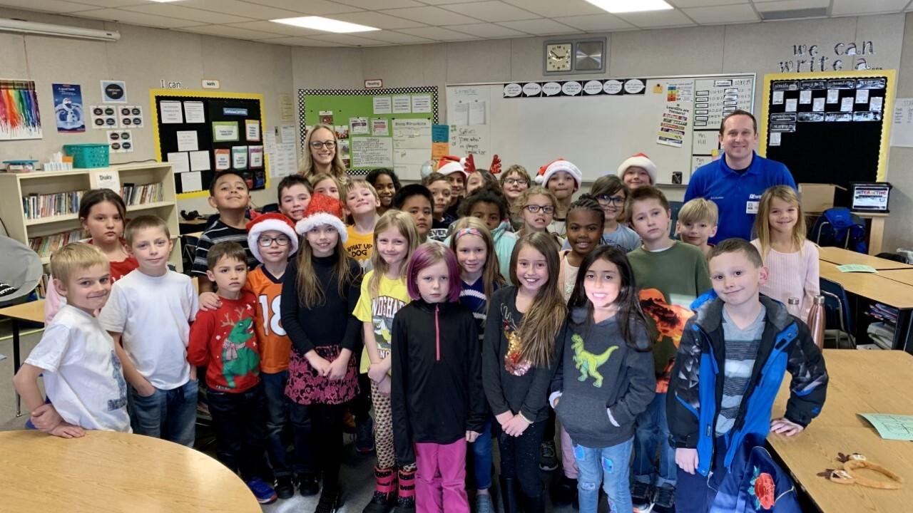 Storm Safe visit at Sunrise Elementary School