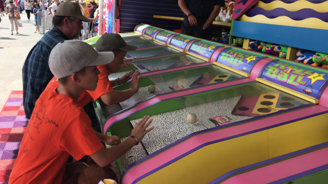 Are you a winner?  Fairgoers put their skills to the test in midway games