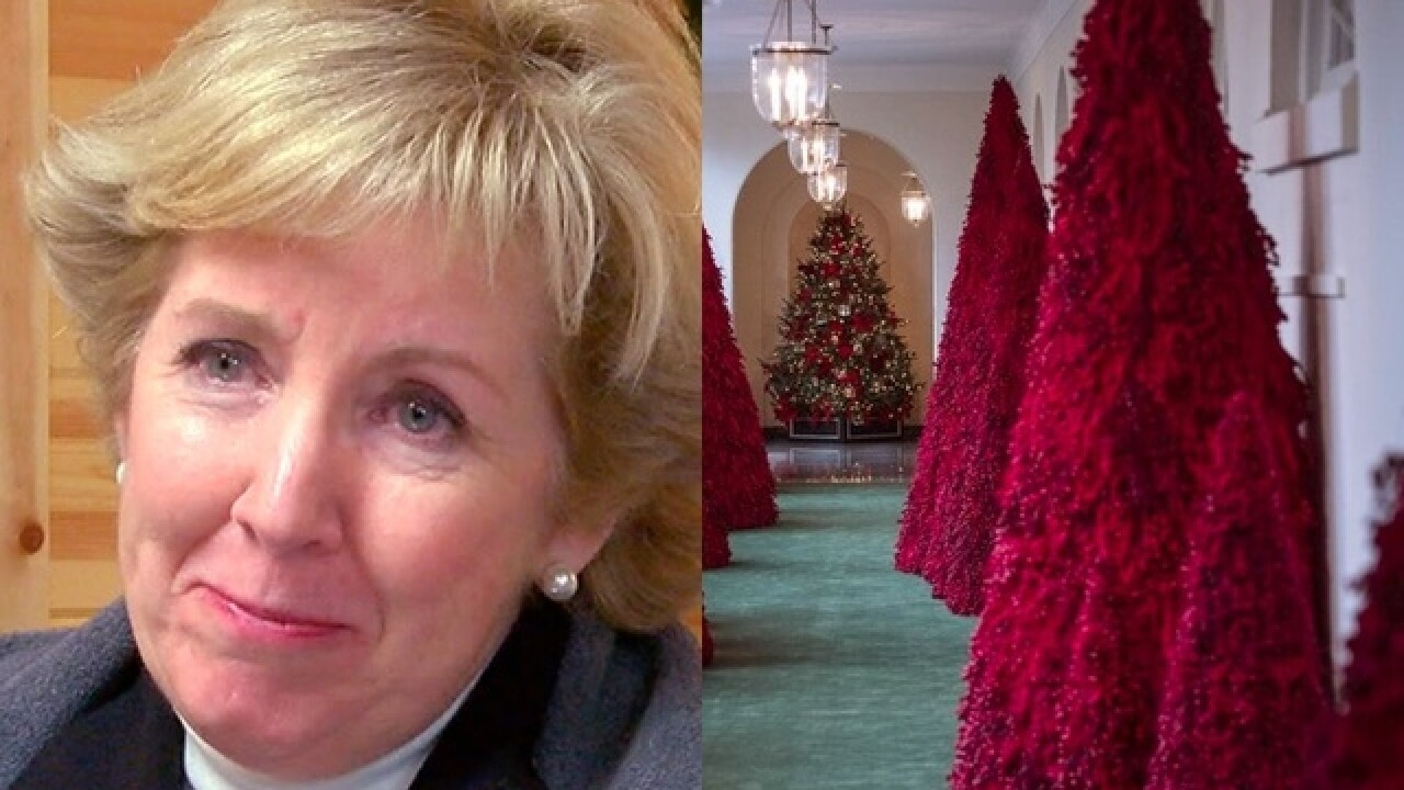 The Unusual Red Christmas Trees At The White House Were A Special