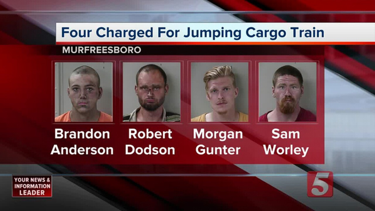 4 Arrested For Hitching Ride On Cargo Train